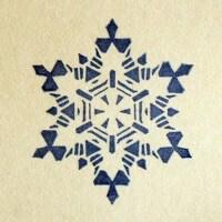 Штамп Снежинка 109