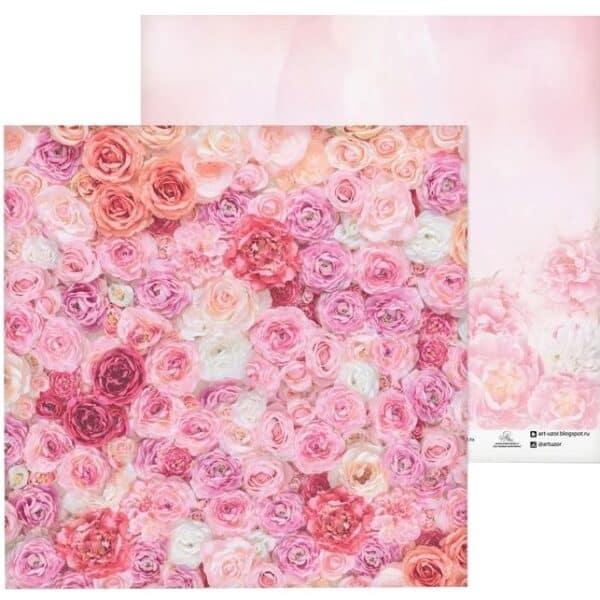 "Бумага для скрапбукинга ""Одеяло из роз"" 30,5х30,5 см"