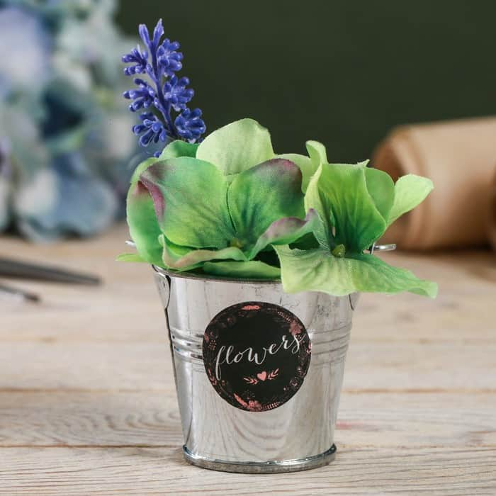 """Металлическое кашпо для цветов """"Flowers"""""""