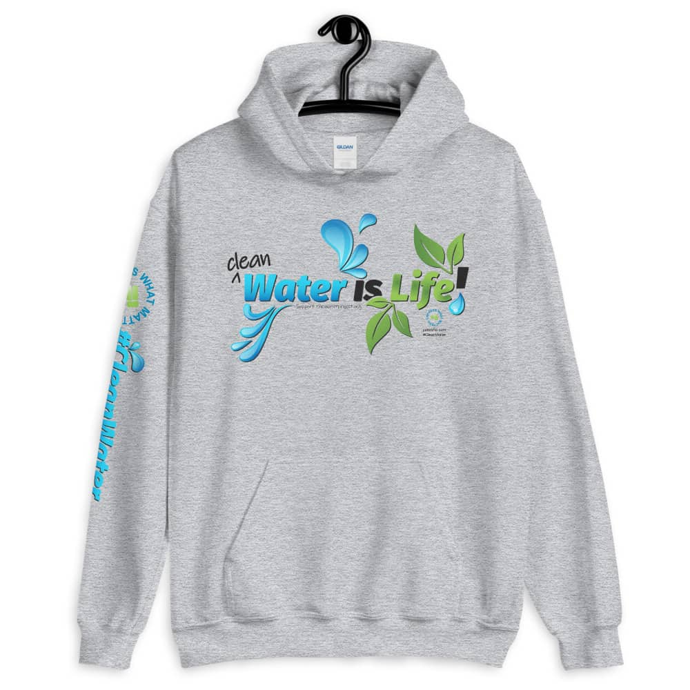 Clean Water is Life Graphic Hoodie