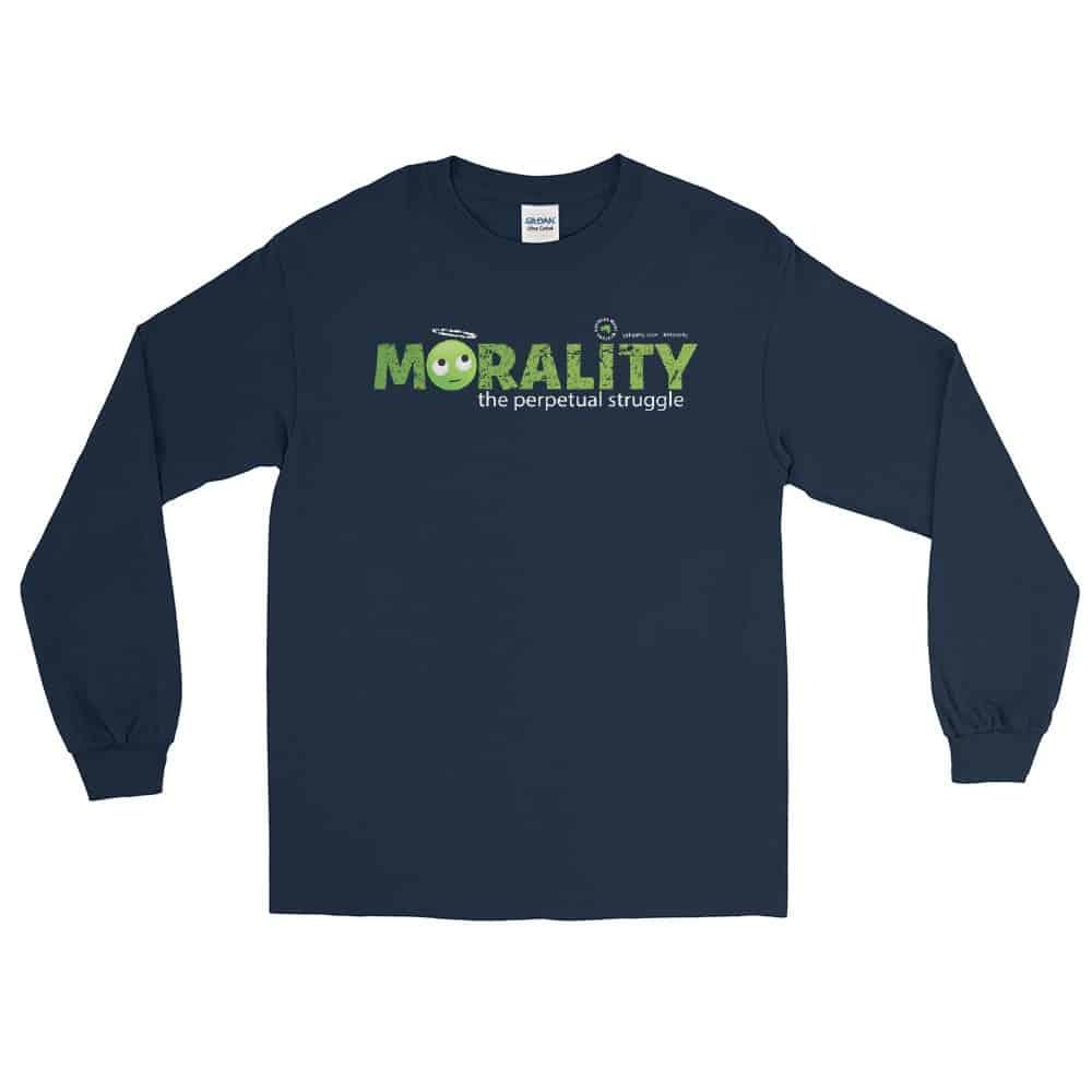 Morality the perpetual struggle Unisex Long Sleeve T-Shirt