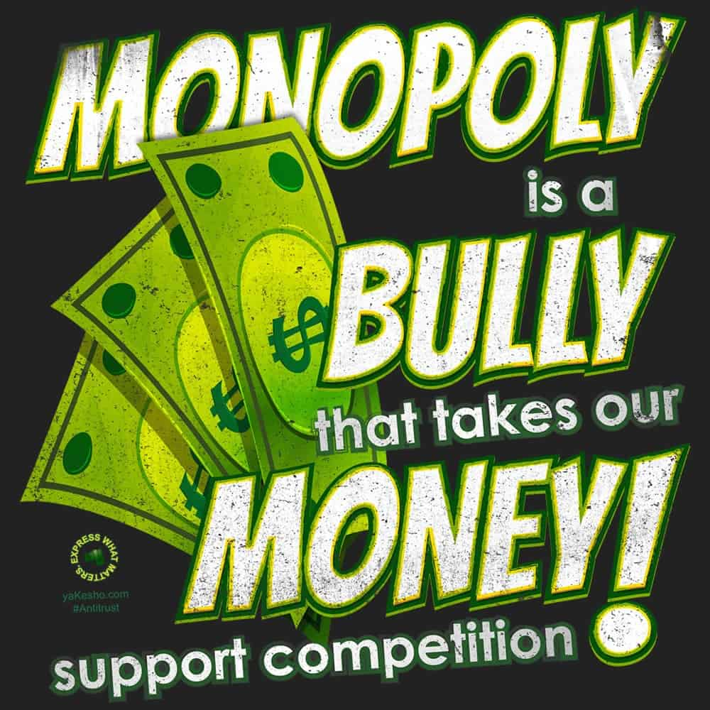 Monopoly Is A Bully That Takes Our Money Design