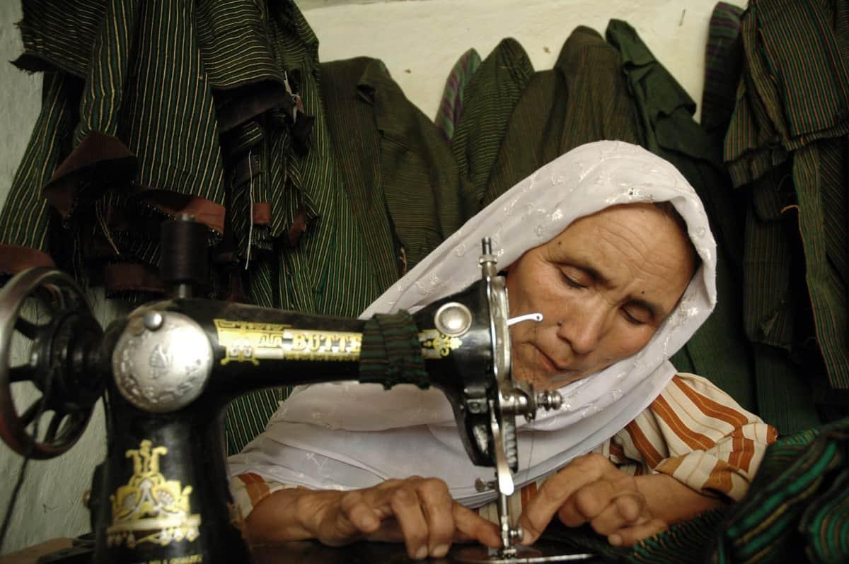 Afghanistan Women Sewing