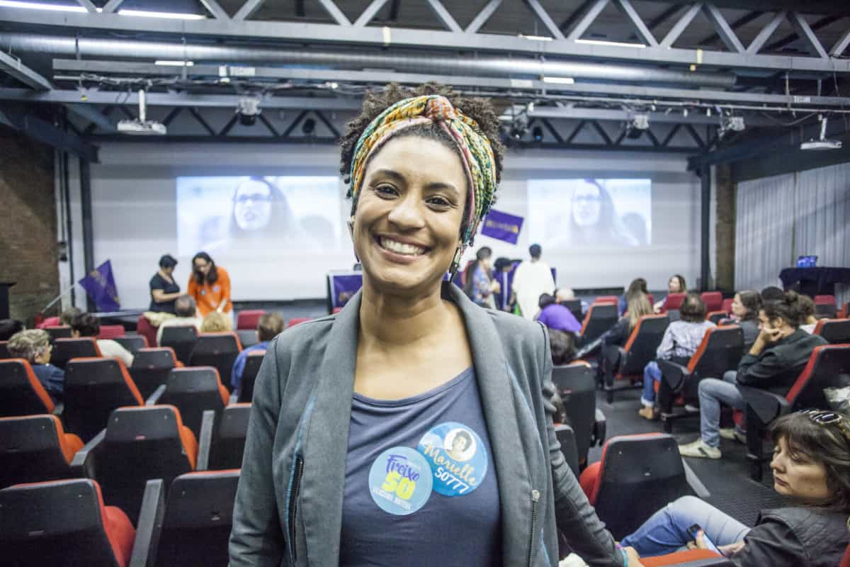 Marielle Franco, an Afro-Brazilian politician, and human rights defender. Fighting anti-black racism