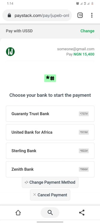 How Can I Get JUPEB Form - Pay With USSD