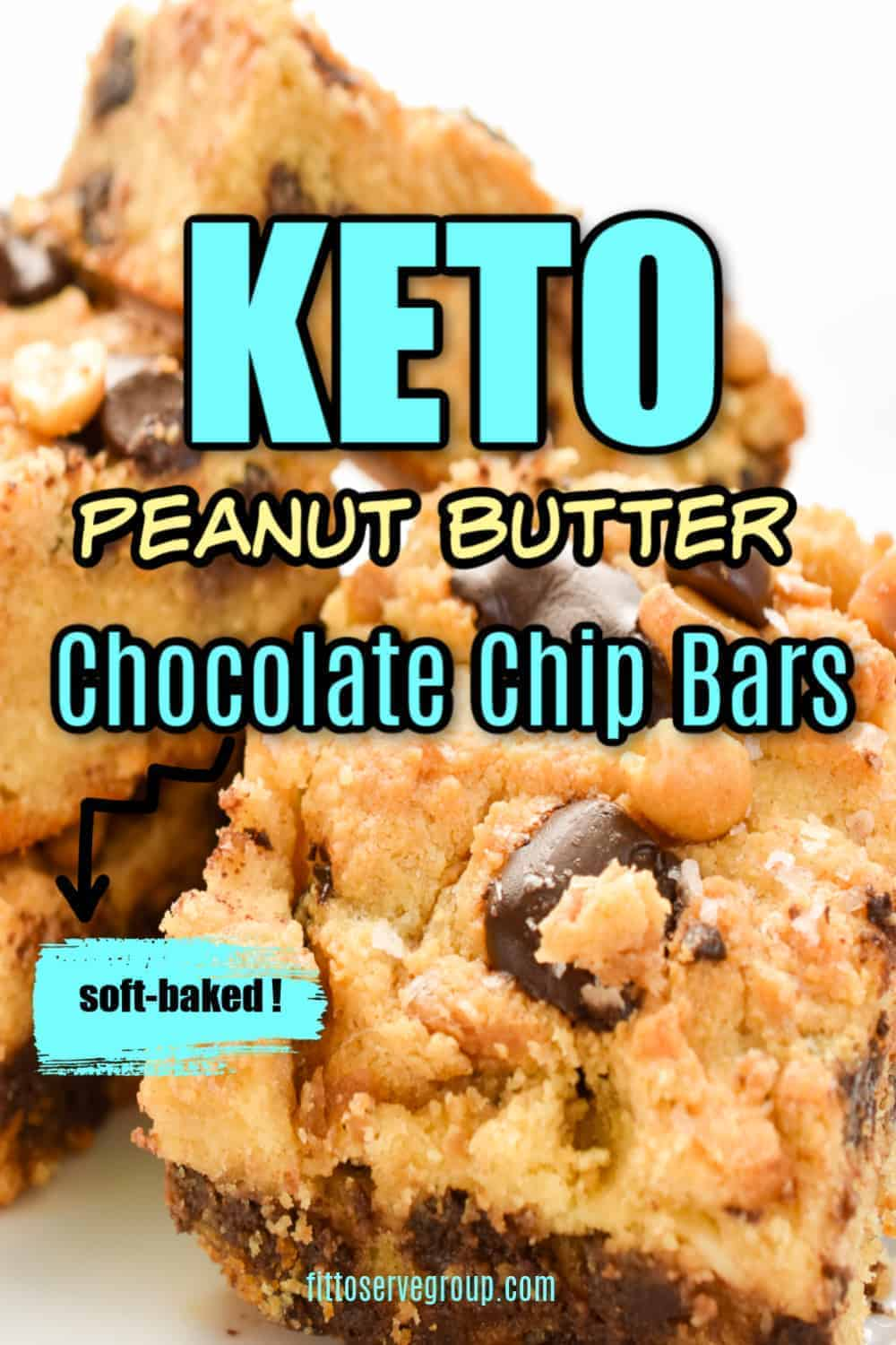 Keto Peanut Butter Chocolate Chip Bars Fittoserve Group