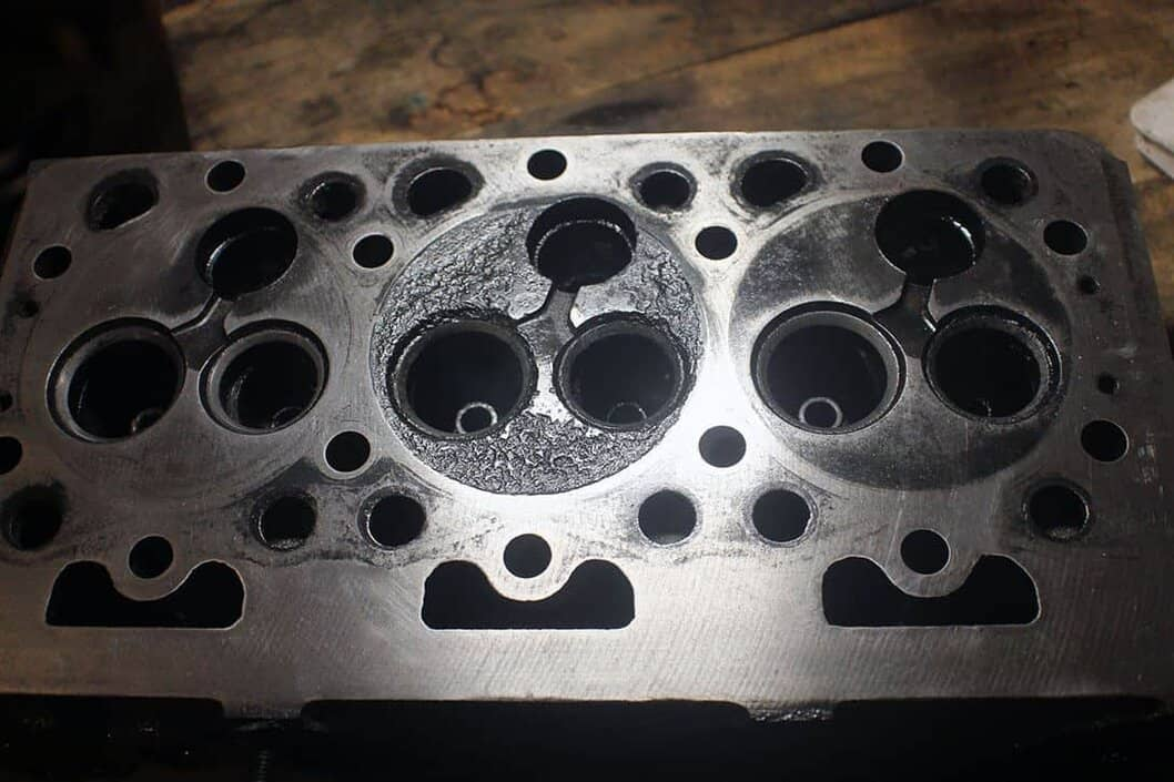 Kubota D950 eroded cylinder head