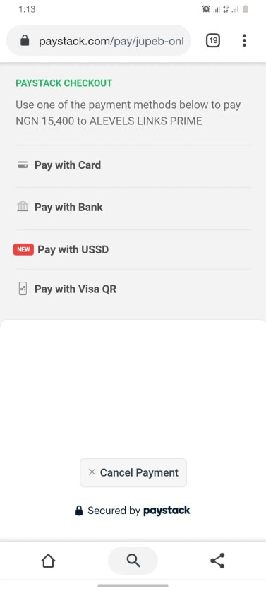 How Can I Get JUPEB Form - PAYSTACK Checkout