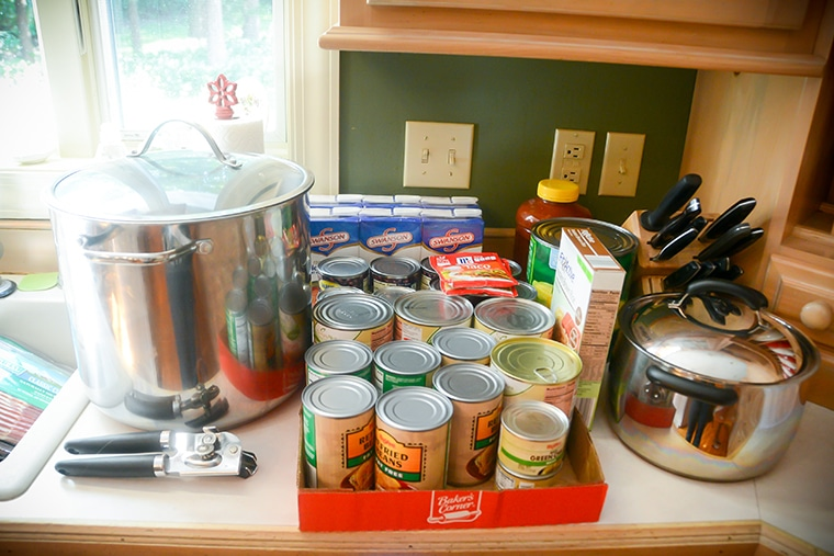 A meal station and a freezer meal party