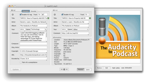 How to tag podcast MP3s with ID3
