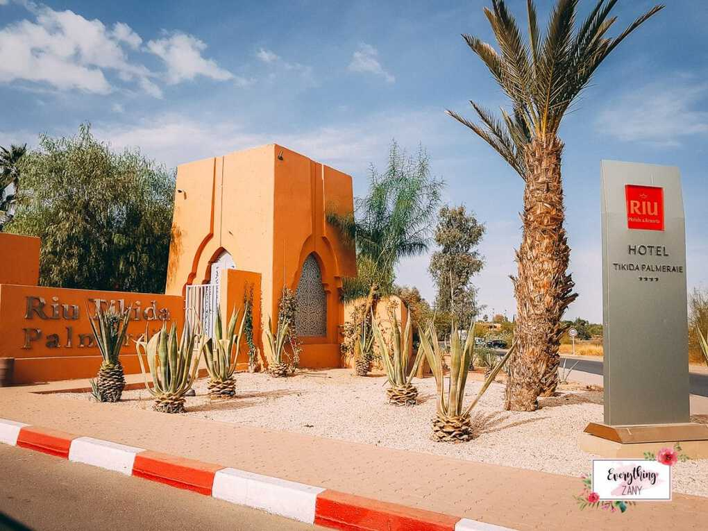 Clubhotel Riu Tikida Palmeraie Marrakech Main Entrance