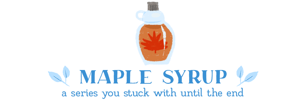 waffle book tag maple syrup