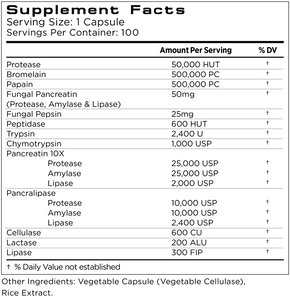 Osmosis Digestive Support Ingredient Label