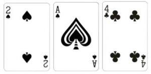 Value 7 Kombinasi dari 3 kartu dengan total jumlah kartu adalah 7