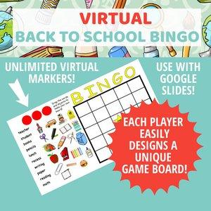 Etsy listing back to school bingo