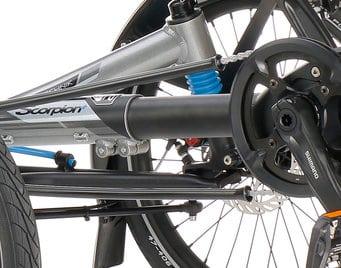 komfort trike dreirad scorpion plus 26 kettenschutzrohre