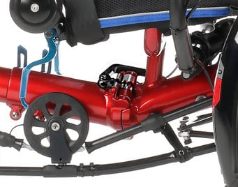 recumbent trike for kids and short people gekko fxs folding hinge