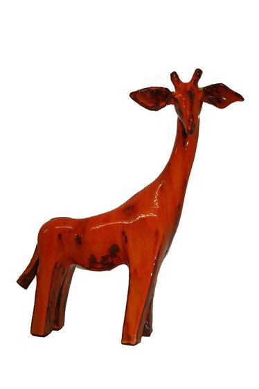Giraffe Zuberi, keramisch rode glazuur