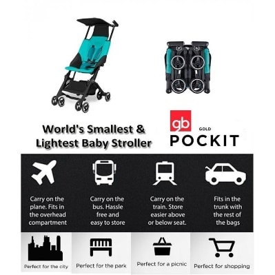 Image result for gb Pockit Stroller 2017 one hand steering