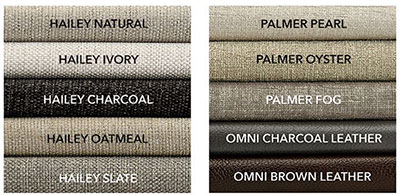 Ethan Allen Shelton Sofa materials and colors