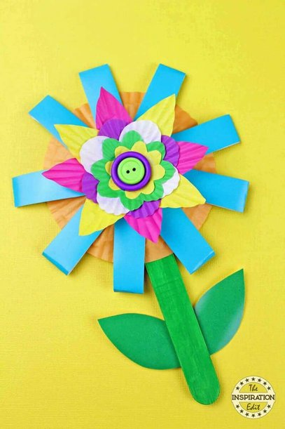 Paper Cup Flower Craft Kids Will Love The Inspiration Edit