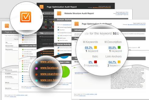 Recurso de auditoria de página do SEO PowerSuite.