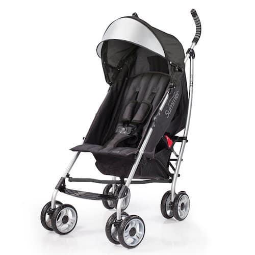 Summer Infant 3DLite Convenience Stroller, Black