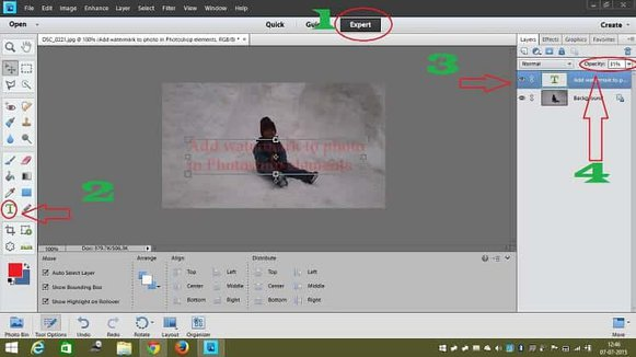 Very Easy To Add Watermark To Photo In Photoshop Elements