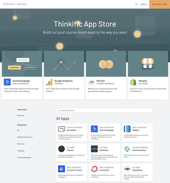 Thinkific App Store