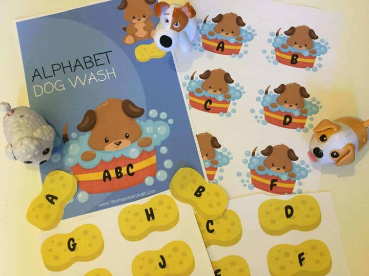 ABC dog wash phonics printable