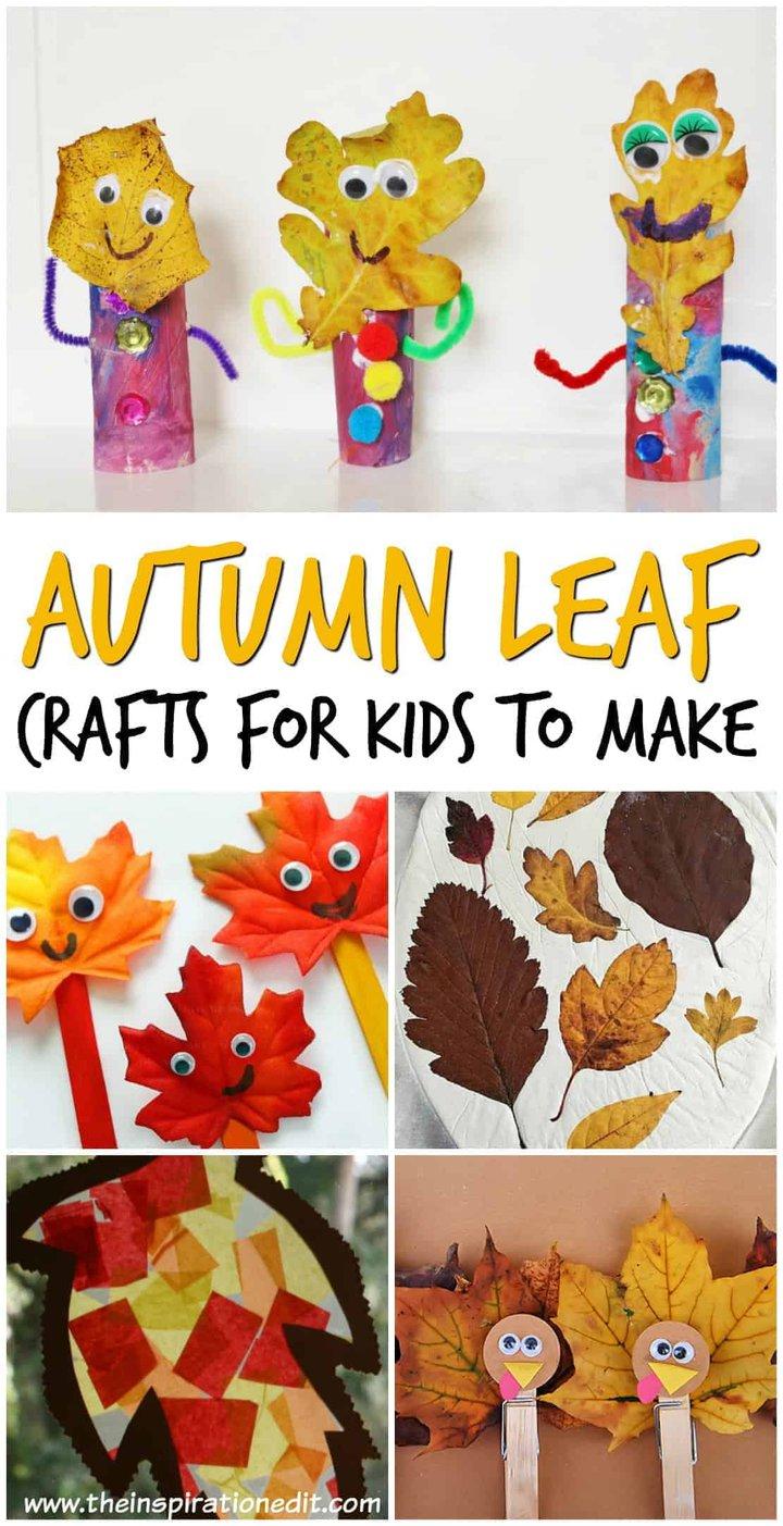 Autumn Leaf Crafts for Kids to Make