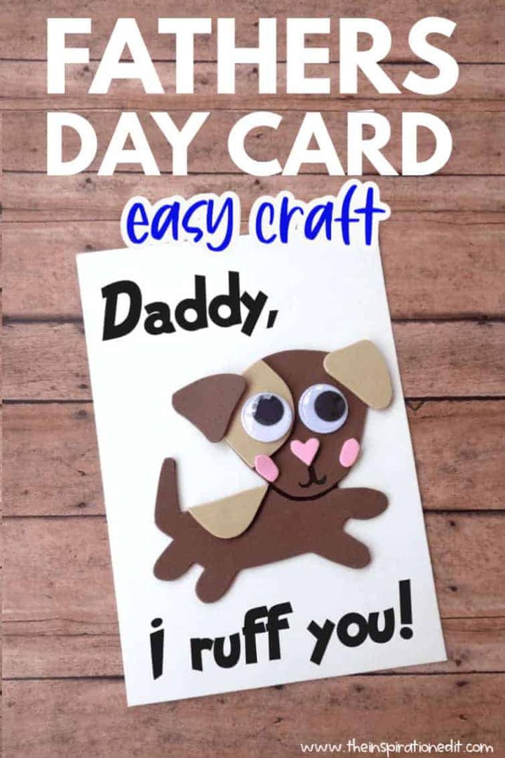 dog fathers day card for preschoolers