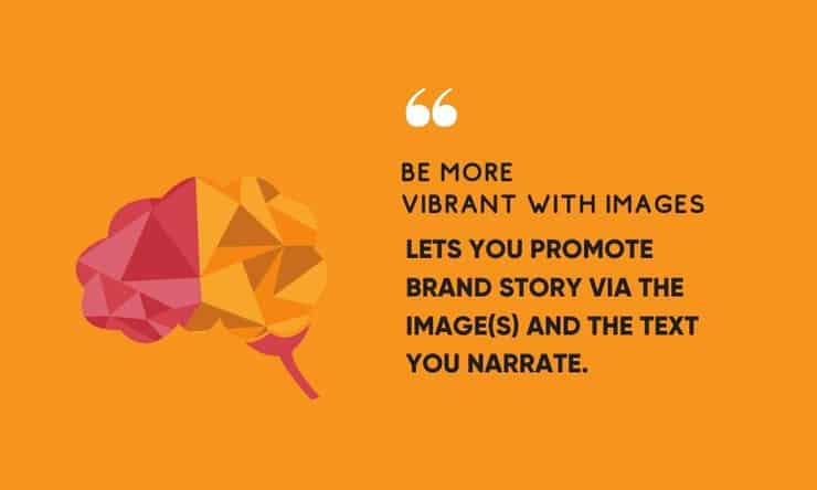 share brand story with images