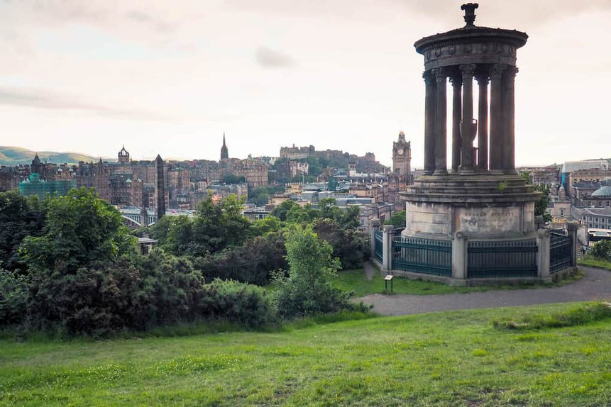 Calton Hill in Edinburgh - Best UK Travel Itinerary for Two Weeks