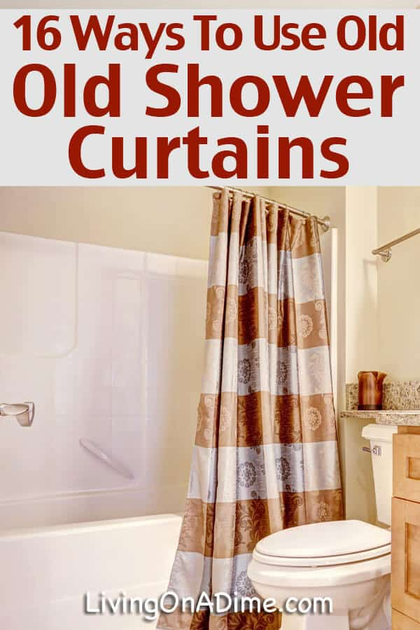 Recycling Plastic Shower Curtains, How To Use Old Shower Curtains
