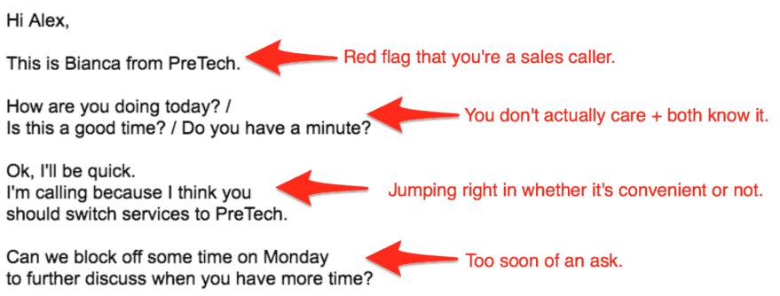 sales call script