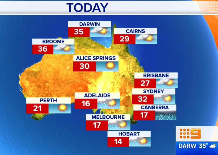 El clima en Australia, el país donde no siempre es verano ???