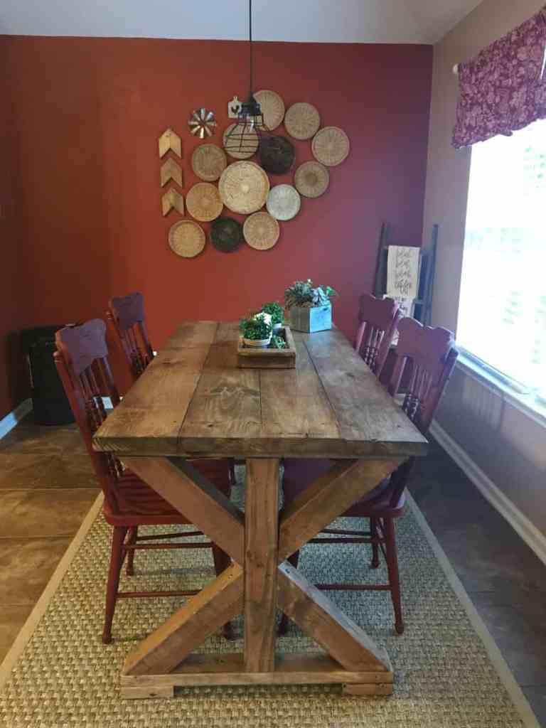 Diy Dining Table Makeover Christina Faye Repurposed