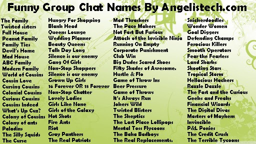Funny Group Chat Names For Families Friends Angelis Tech