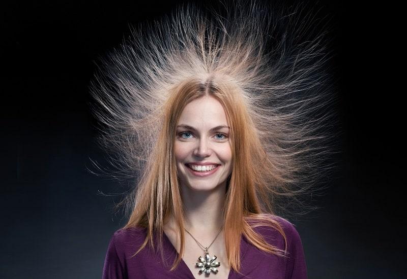 statiskt hår på vintern