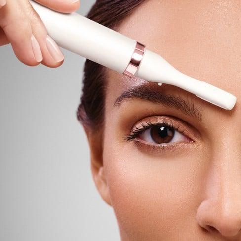 trimma ögonbryn med trimmer
