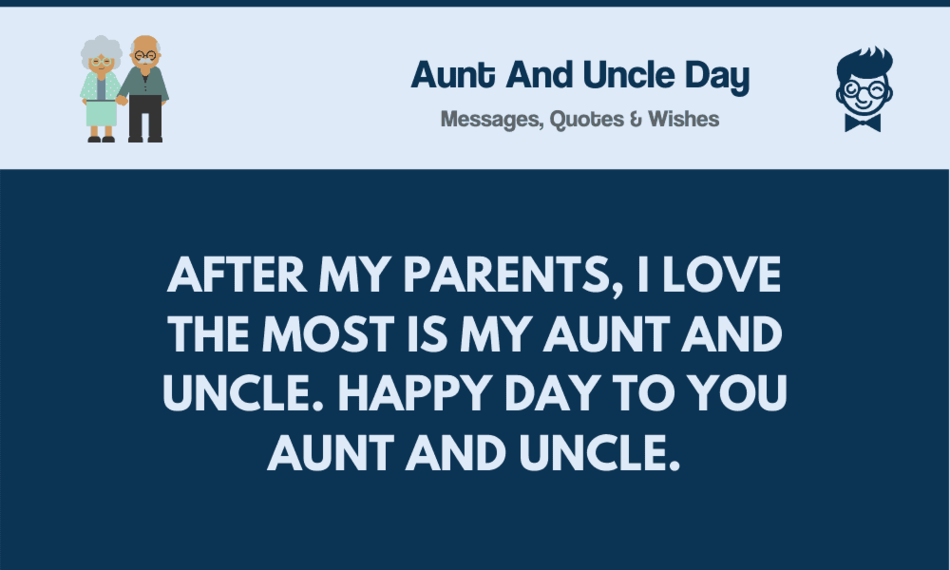 Aunt And Uncle Day 69 Best Messages Wishes Greetings