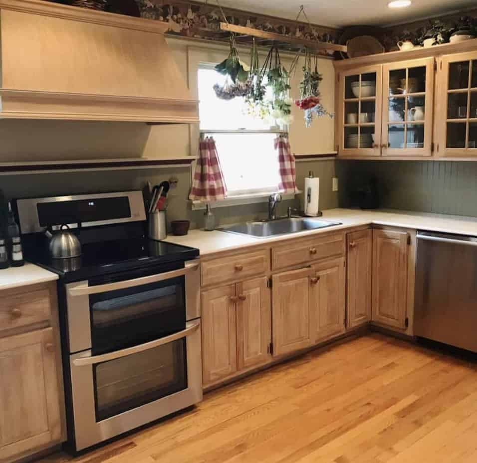 How To Refinish Wood Cabinets With Gel Stain Stacy Ling