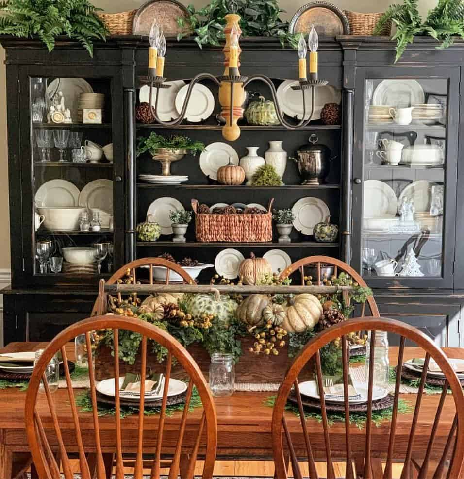 Rustic Fall Centerpiece Idea For The Dining Table Stacy Ling