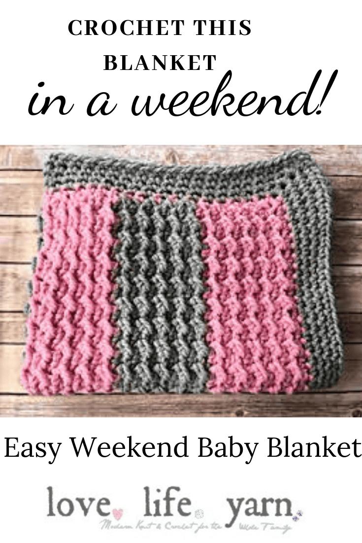 Easy Weekend Baby Blanket   Free Crochet Pattern   love. life. yarn.
