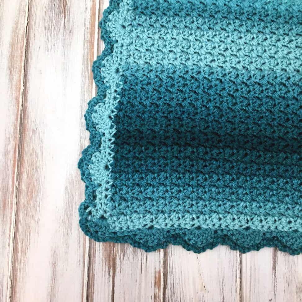 Elegant Ombre Baby Blanket   Free Crochet Pattern   love. life. yarn.