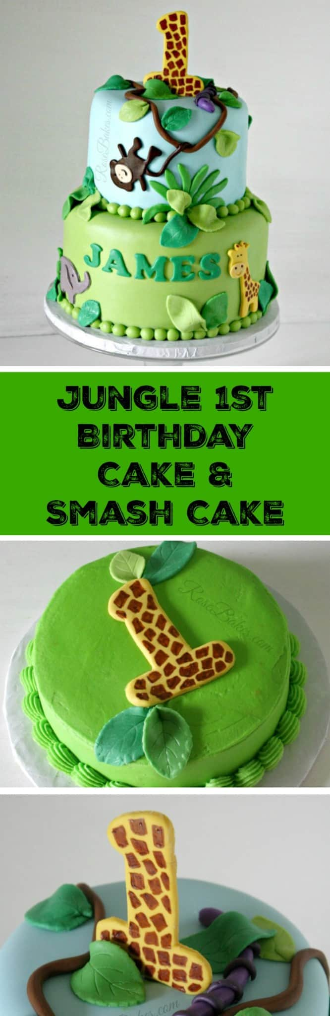 Wondrous Jungle 1St Birthday Cake Smash Cake Rose Bakes Funny Birthday Cards Online Inifodamsfinfo