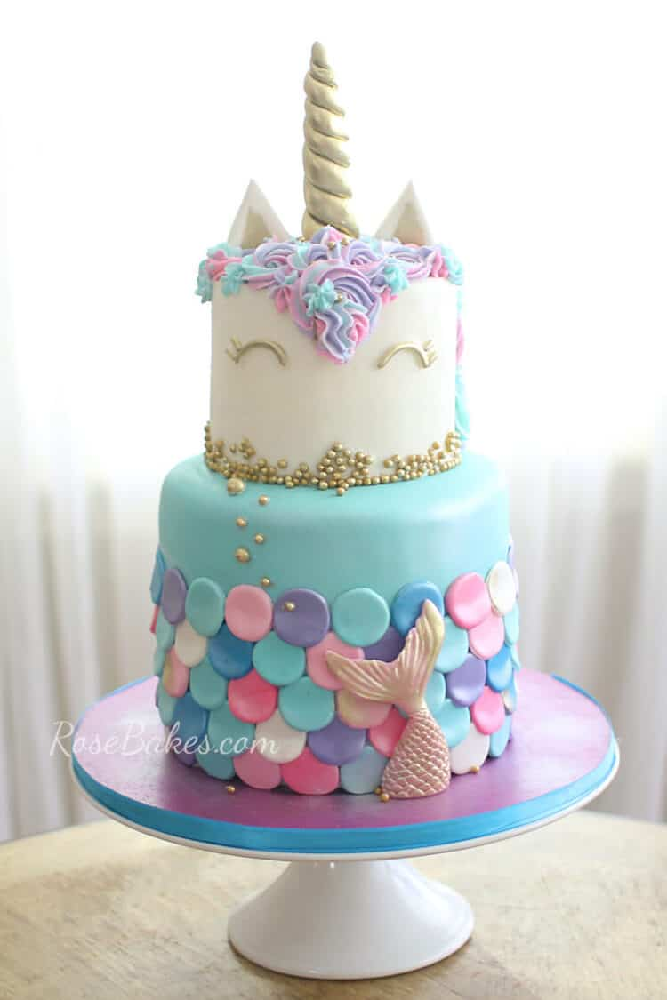 Prime 13 Mermaid Cakes Party Ideas Rose Bakes Funny Birthday Cards Online Fluifree Goldxyz
