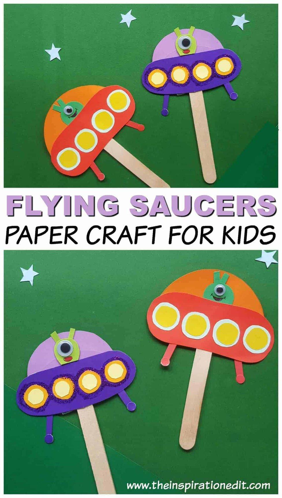 Spaceship Alien Craft For Kids The Inspiration Edit