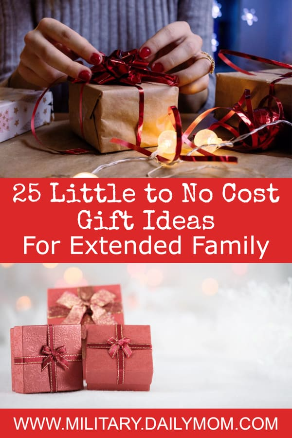 25 Creative Gifts For Extended Family That Fit In The Budget Daily Mom Military
